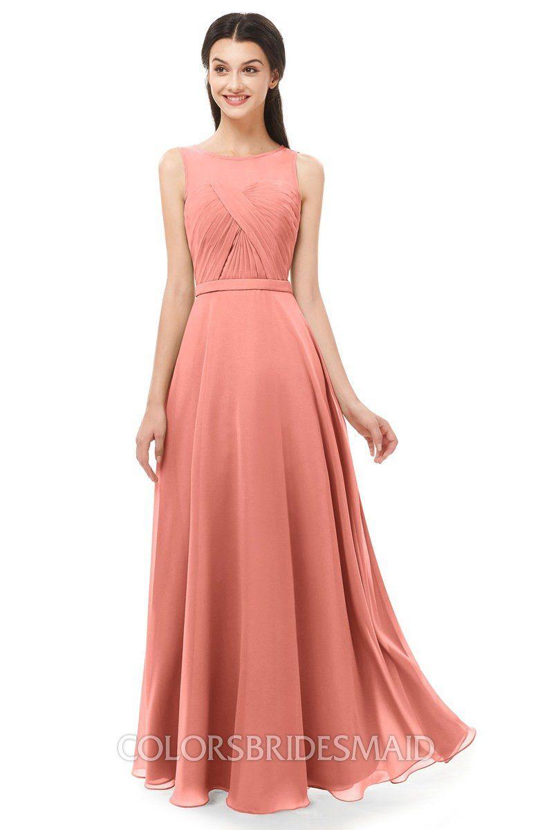 b3321ffb4672 ColsBM Emery Bridesmaid Dresses Bateau A-line Floor Length Simple Zip up  Sash #colsbm #bridesmaids #bridesmaiddress #weddings .