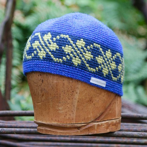c47139e99df This 100% alpaca tapestry crochet striped wool beanie is an all-season  accessory which will keep you warm from fall through spring. These unisex  hats