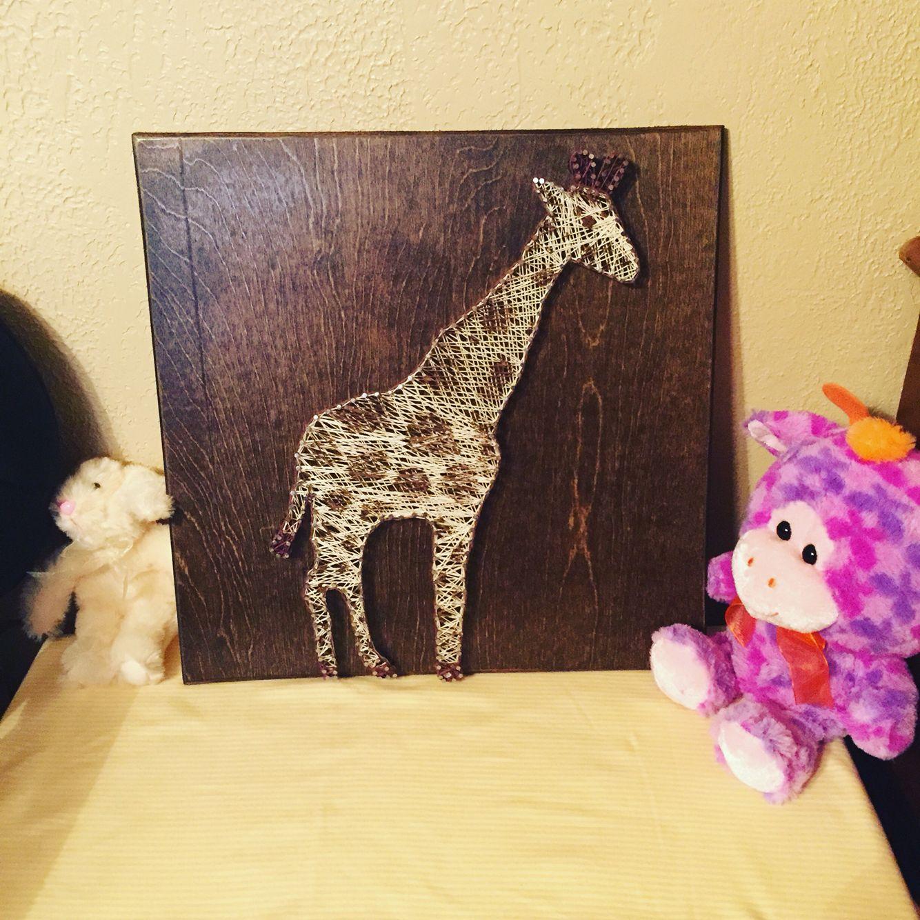 Giraffe string art! | Diy | Pinterest | String art, Giraffe and Craft