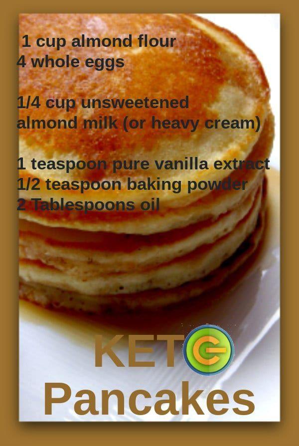 Low carb Keto gluten free grain free pancakes  Breakfast recipes for diabetics  Breakfast foods for diabetics
