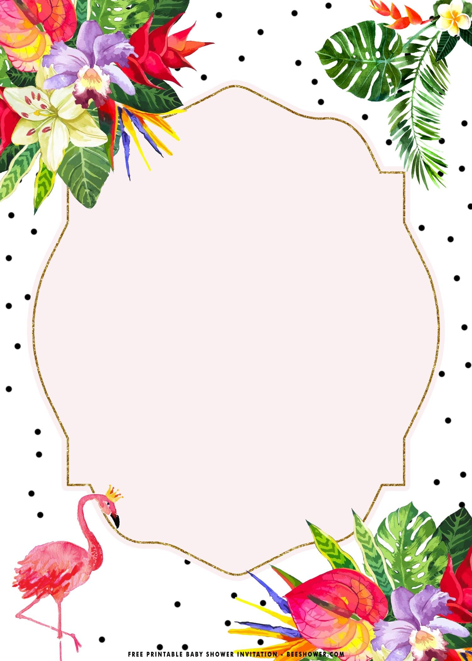 Free Printable Tropical Flamingo Birthday Invitations Templates Flamingo Birthday Invitations Free Printable Baby Shower Invitations Flamingo Birthday