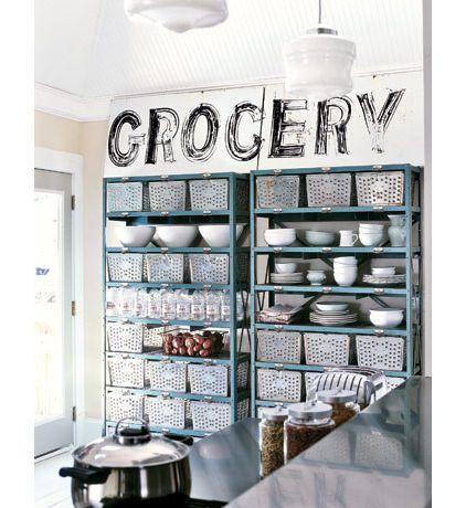 Home Grocery Idea | Houzz. MetalsKitchen OrganizationOrganization ...