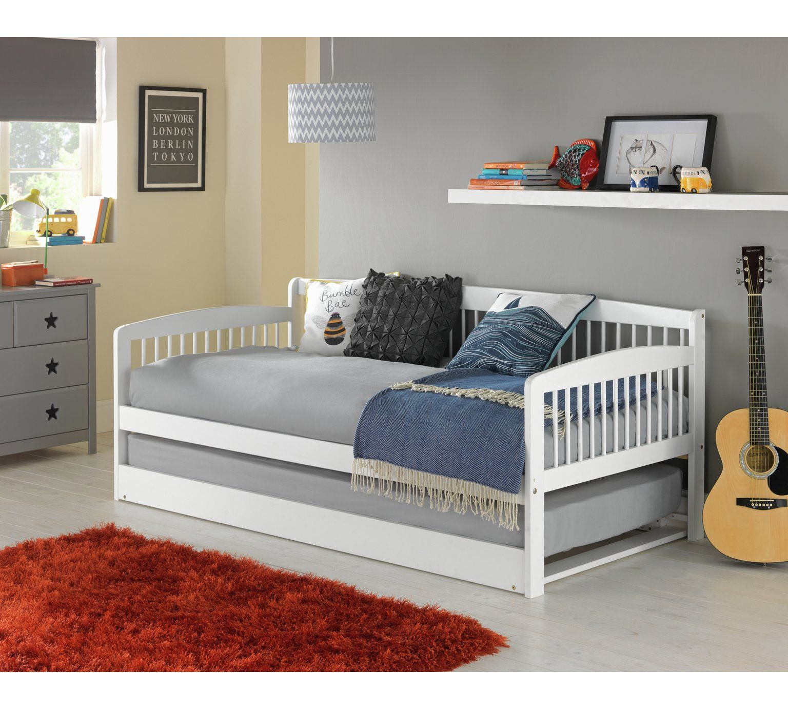 argos bedroom furniture. Buy HOME Wooden Day Bed With Mattress - White At Argos.co.uk, Argos Bedroom Furniture S