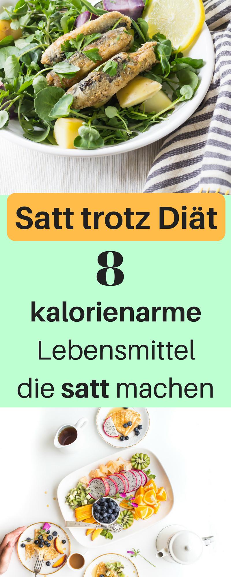 Kalorienarme Sattmacher, Lebensmittel zum Abnehmen. Kalorien