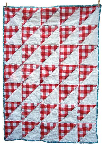 red and white gingham quilt. Cute for a picnic quilt done with the ... : red gingham quilt - Adamdwight.com