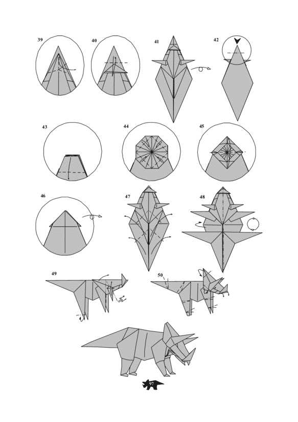 Origami Triceratops 1 Page4