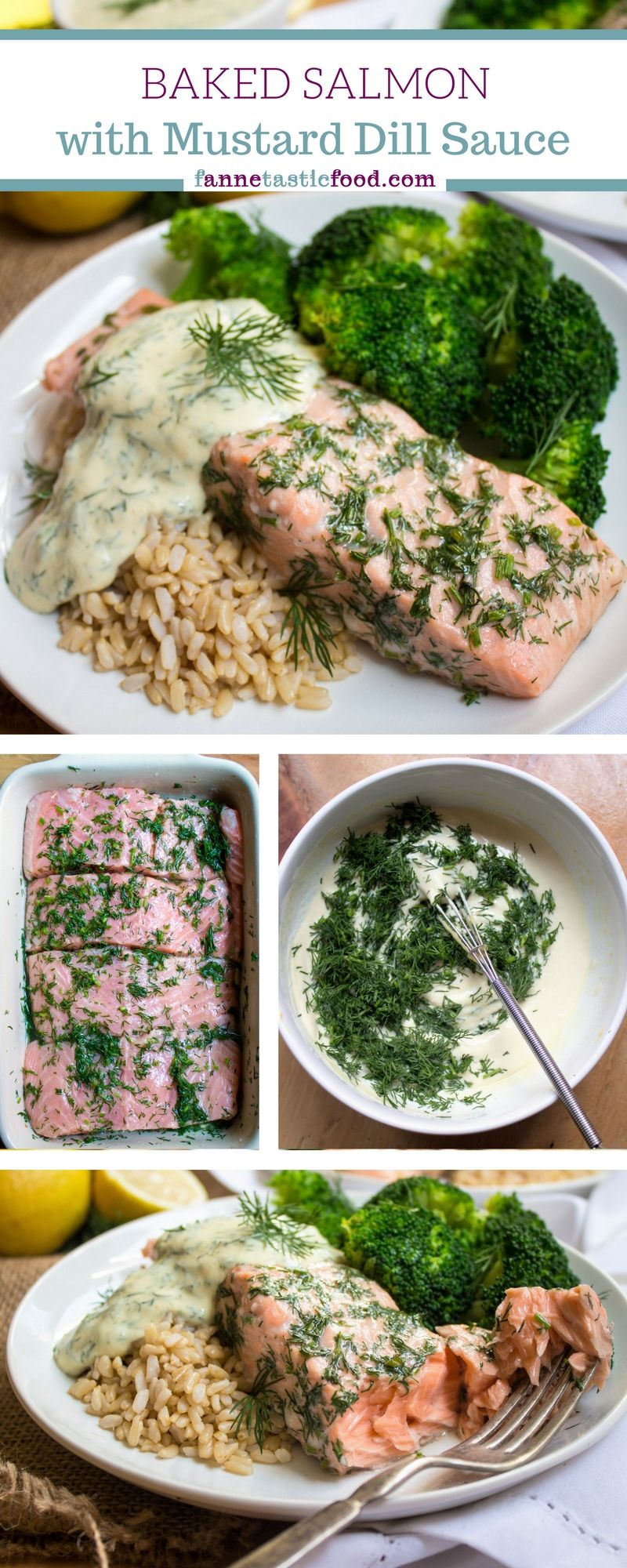 Photo of Baked Salmon with Lemon Mustard Dill Sauce Recipe