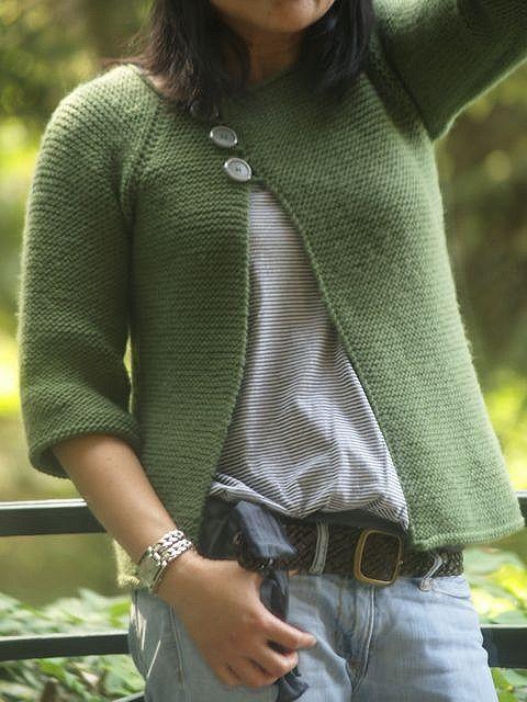 97d22c7b0 Garter Stitch Swingy Sweater pattern by Jenn Pellerin