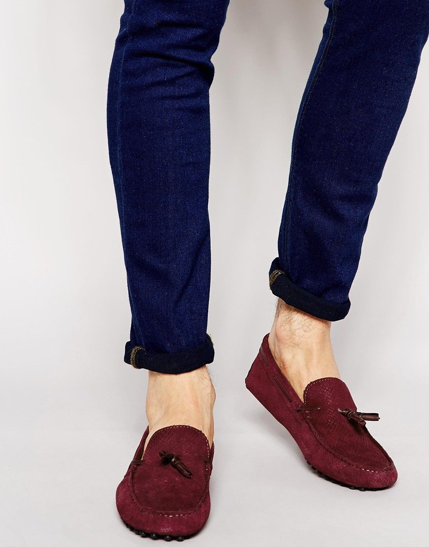 Buy Men Shoes / Asos Driving Shoes In Snake Effect