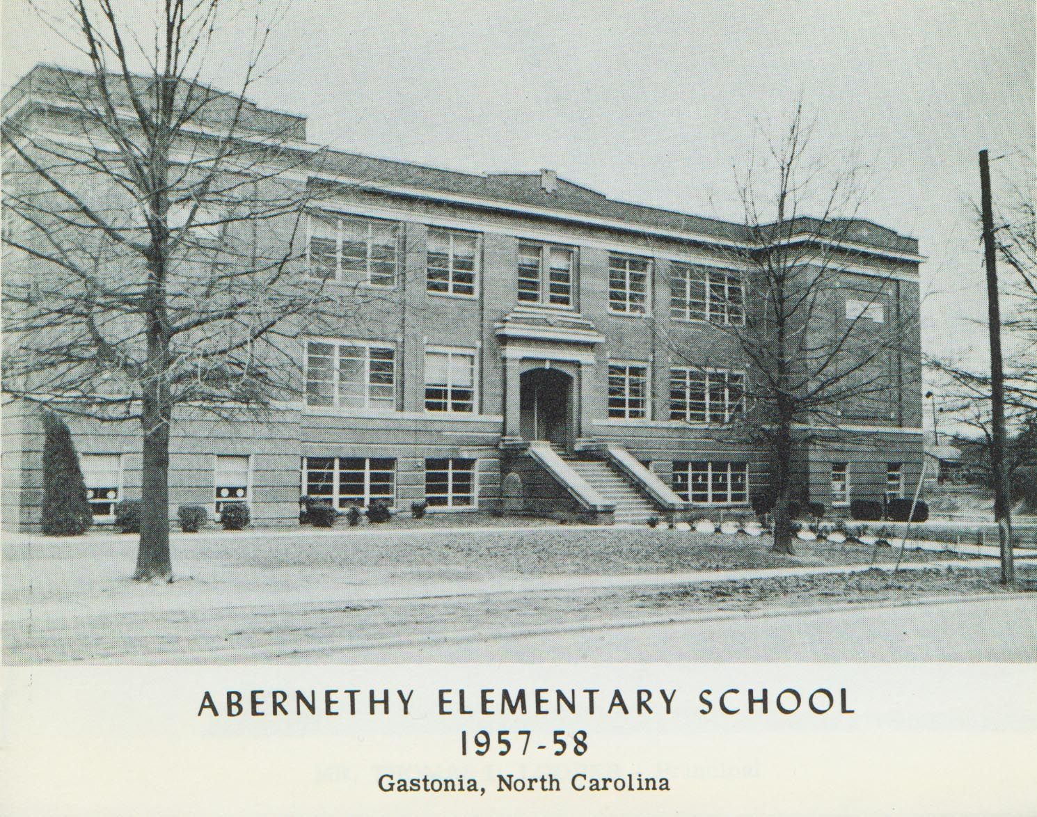 Abernethy Elementary School, Gastonia. No Longer Surviving, This Was Where  I Attended 1st