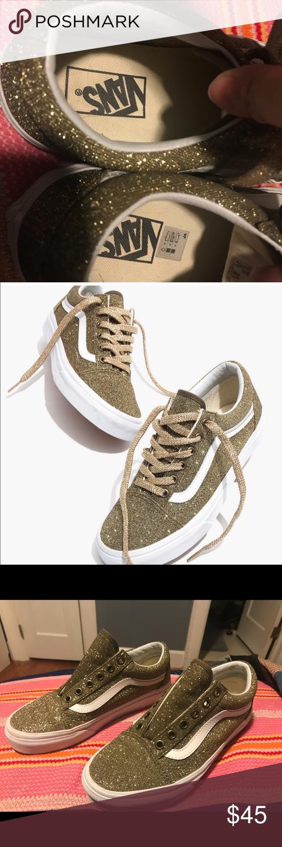 Gold Madewell Vans | Madewell vans