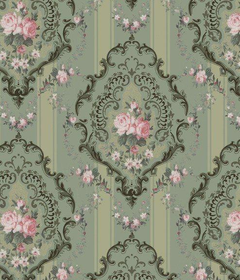 I Love This Print. Printable Victorian Dollhouse Wallpaper