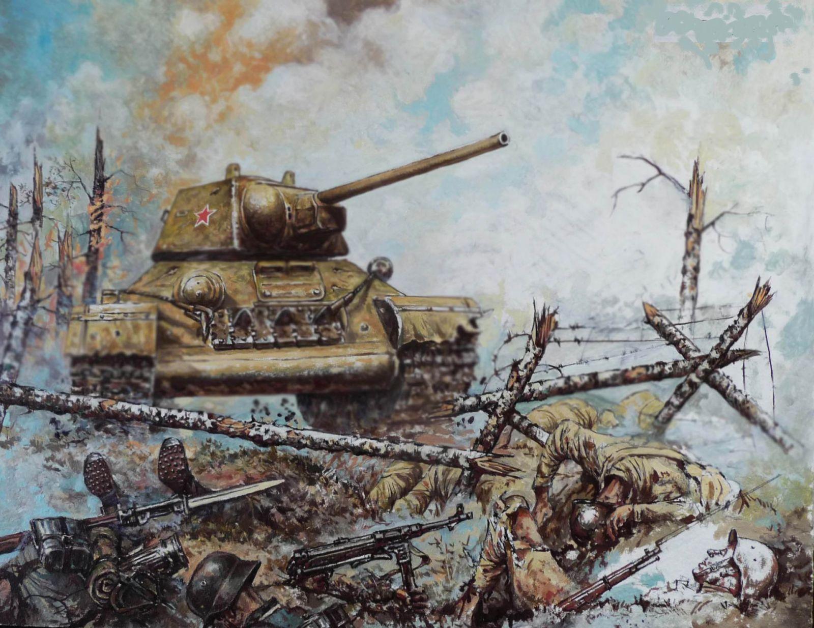 Танковые баталии в картинках