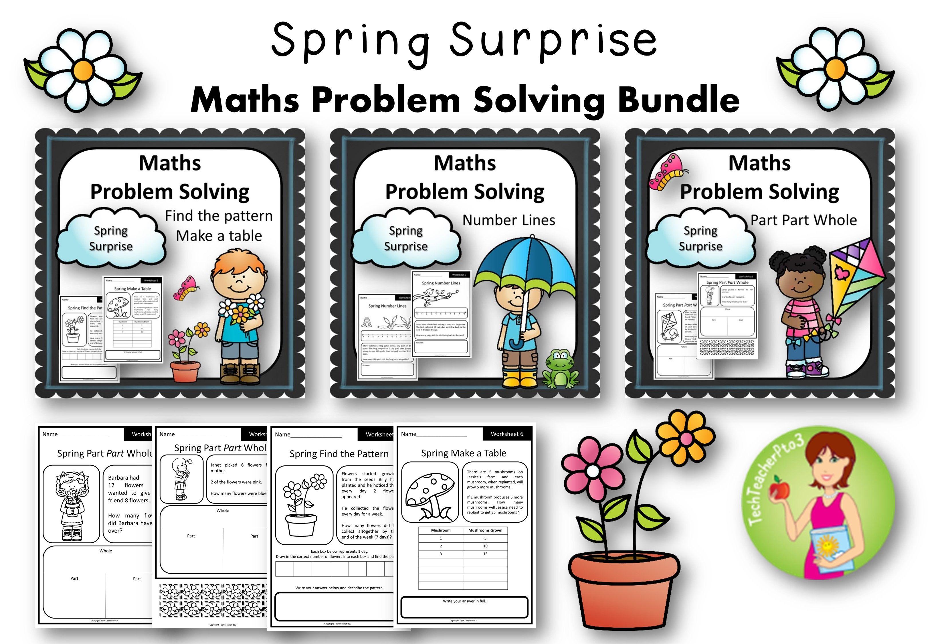 Spring Math Problem Solving Activities Bundle