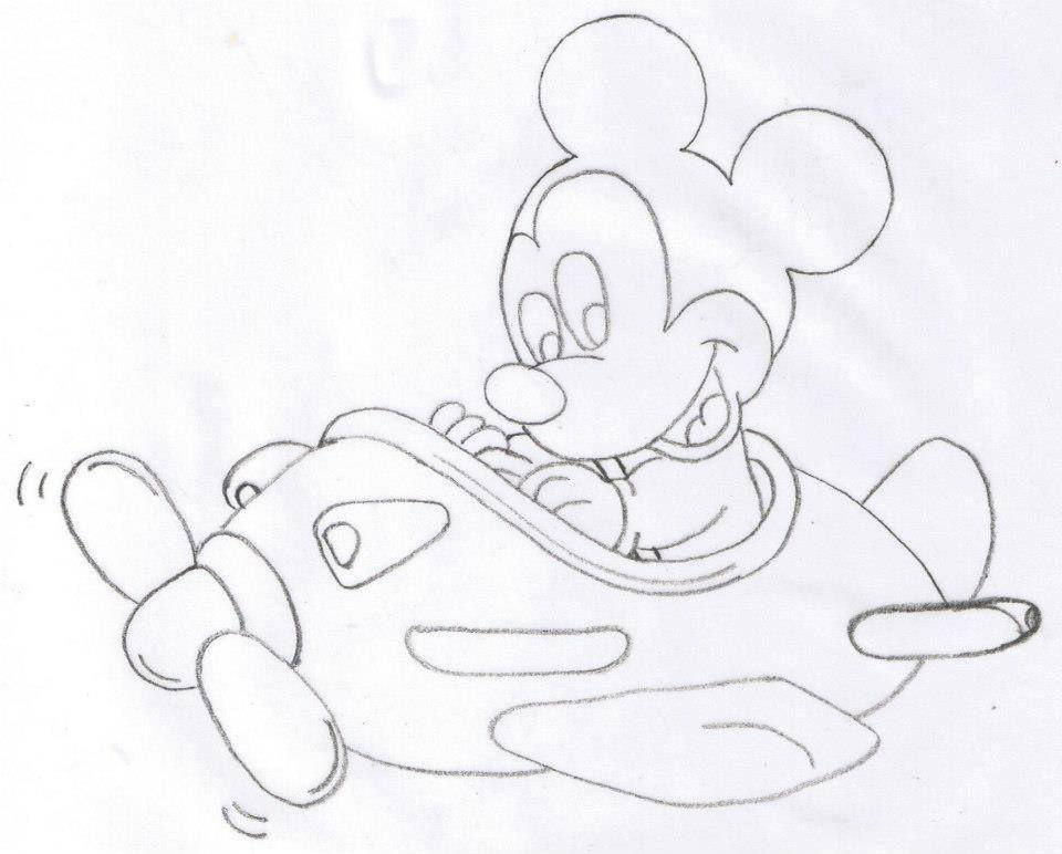 Risco Mickey Baby | Riscos para pintura em tecido | Pinterest