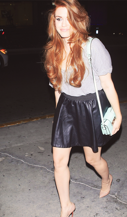 Holland Roden, She is my new favorite, love her hair and style!