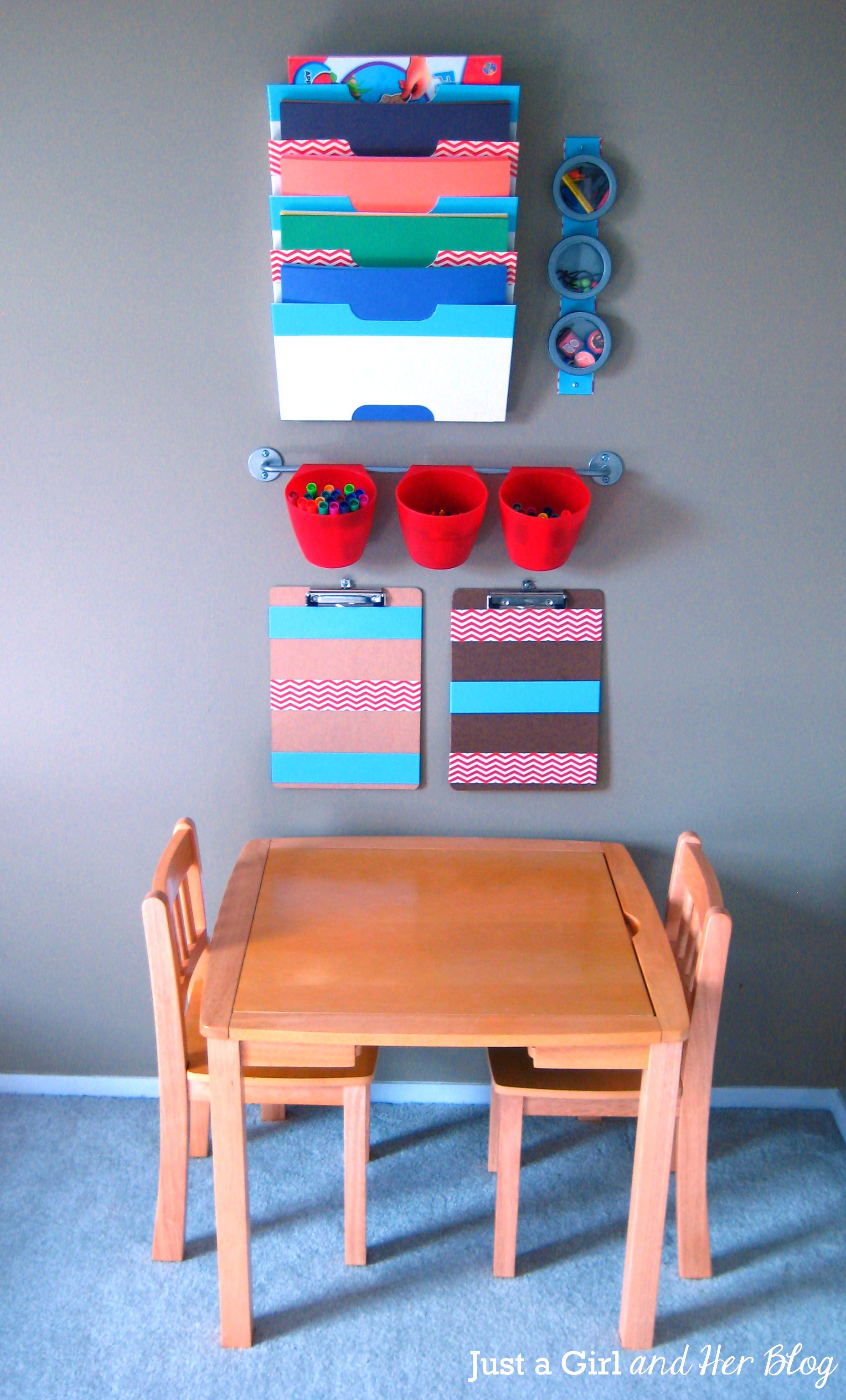 kids craft corner reveal organize kids craft corner and organizing