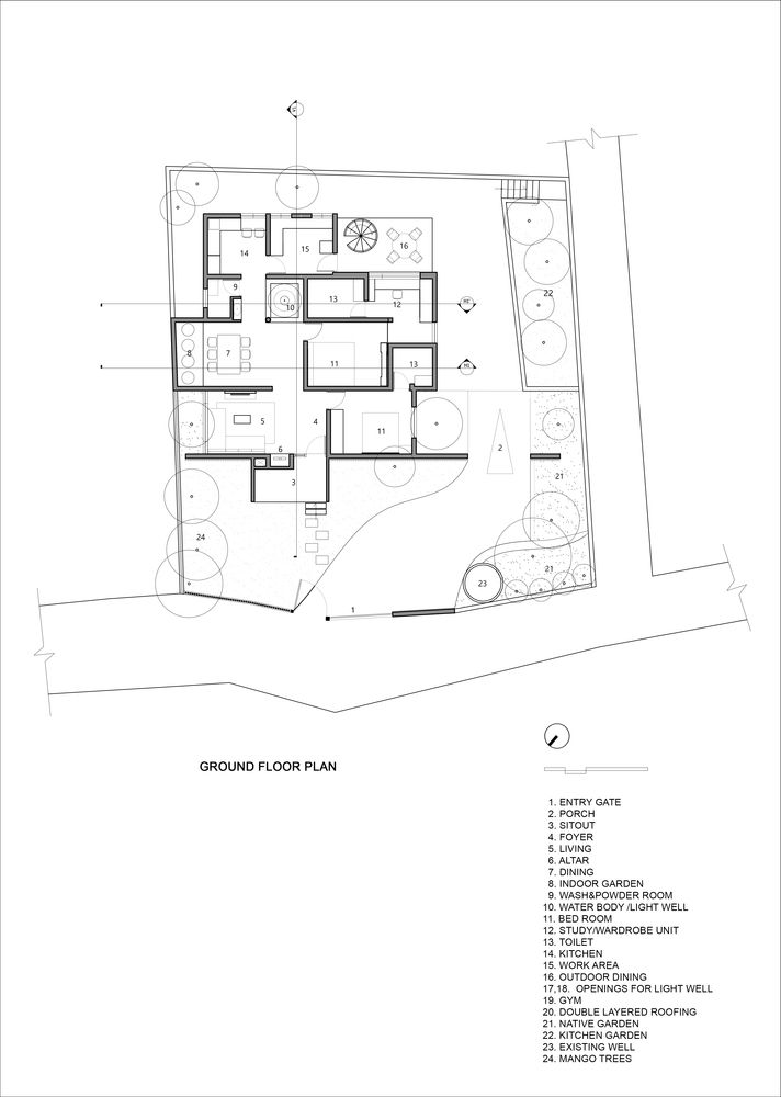 Gallery Of Residence In Perinthalmanna Zero Studio 30 In 2020 Minimal House Design Ground Floor Plan Floor Plans