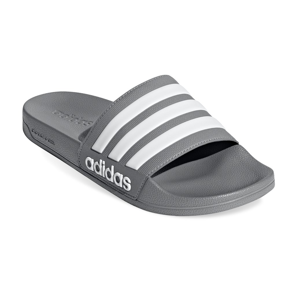 the latest 77132 42a34 Adidas Adilette Shower Men s Slide Sandals, Med Grey