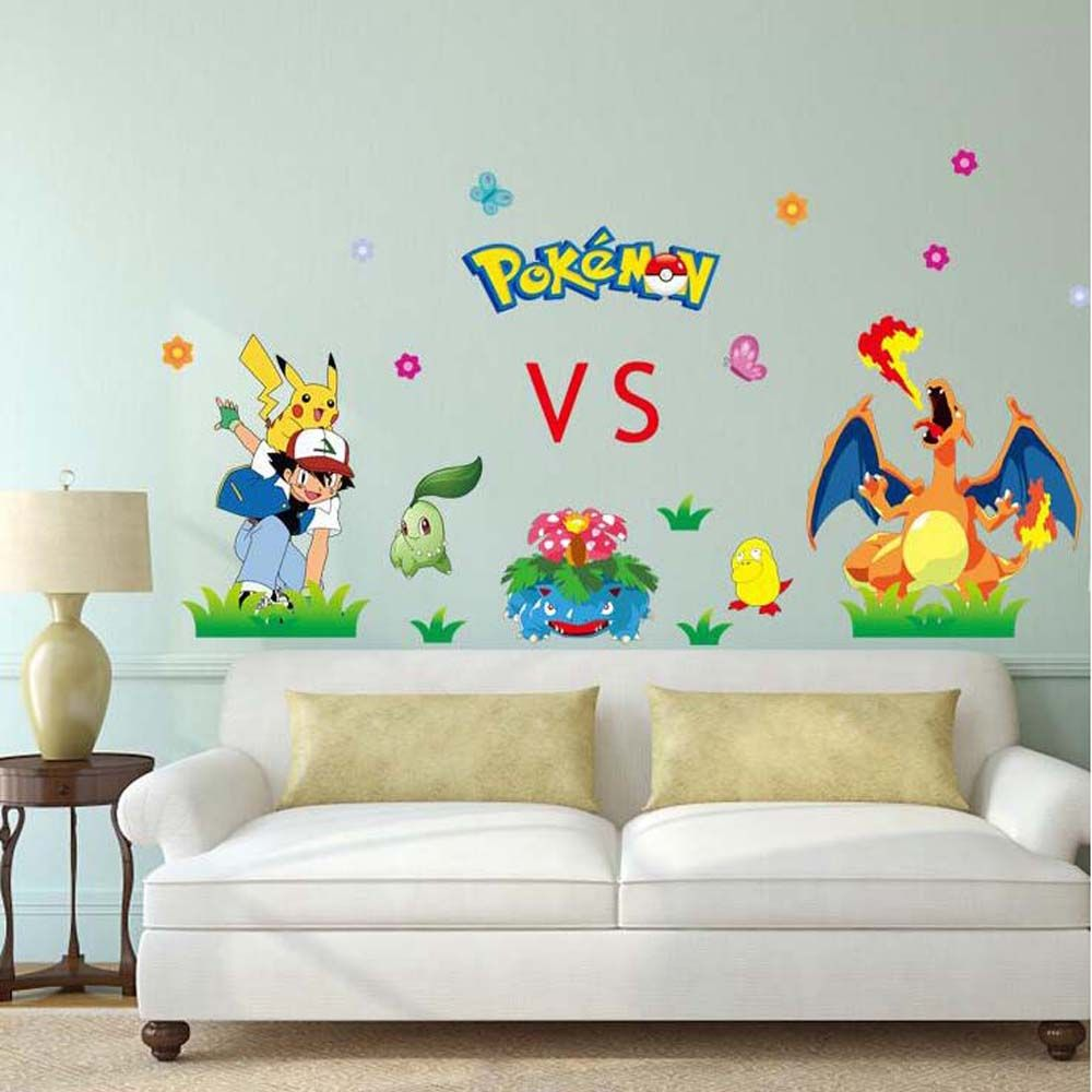 Decorative pokemon 3d wall stickers for kids rooms living room decorative pokemon 3d wall stickers for kids rooms living room wall pictures removable nursery wall decals amipublicfo Gallery
