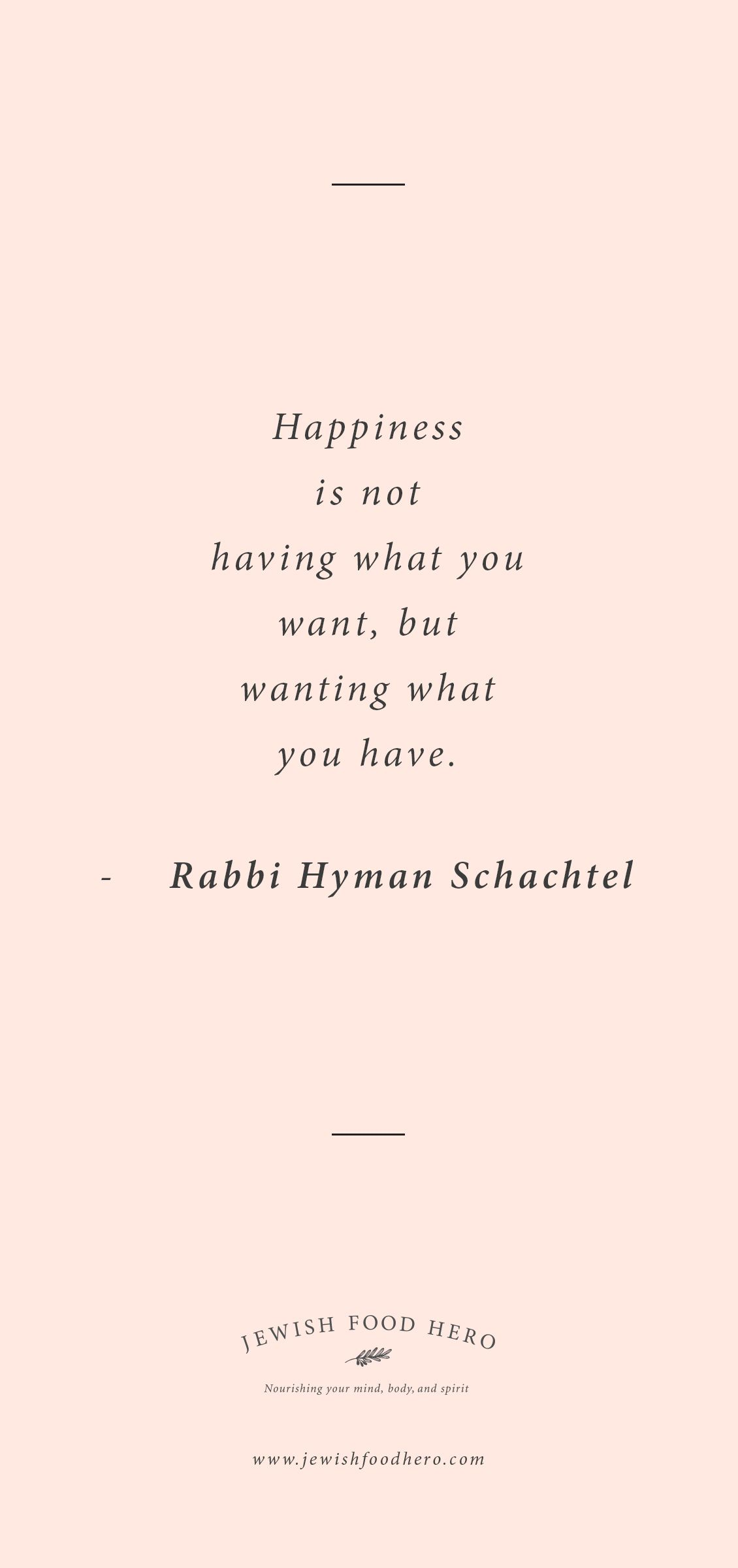 Rabbi Hyman Schachtel Quotation