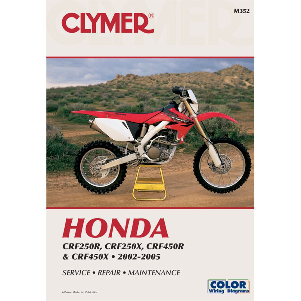 Clymer Honda Crf250r Crf250x Crf450r Crf450x 2002 2005 Boat Parts For Less Clymer Repair Manuals Honda