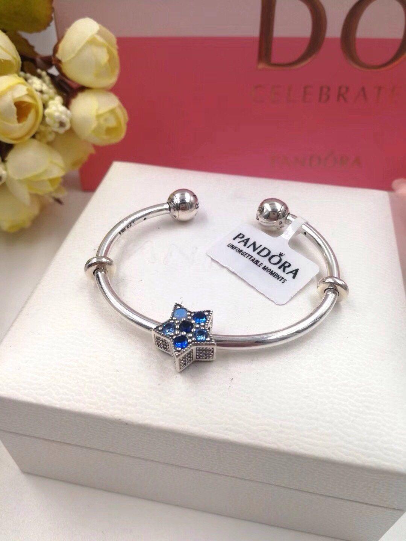 Pandora blue star open bangle bracelet in jewelry pinterest