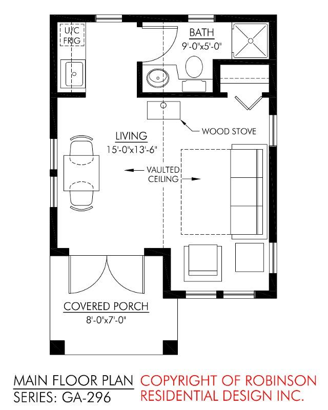 Robinson Residential Guest House Small House Floor Plans Tiny House Floor Plans Studio Floor Plans
