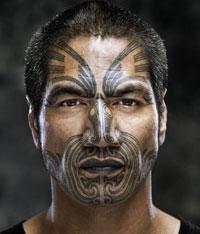ta moko or maori facial tattoo paint and tattoo. Black Bedroom Furniture Sets. Home Design Ideas