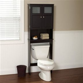 espresso bathroom storage unit cabinet for over the toilet
