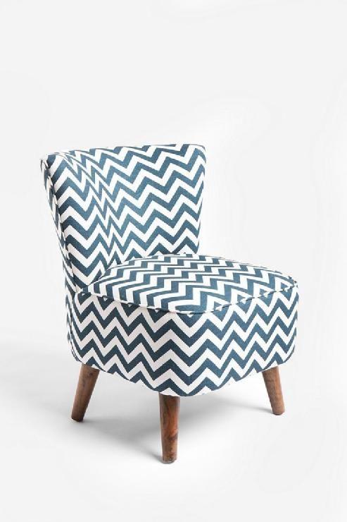 Gentil Chevron Print Chair