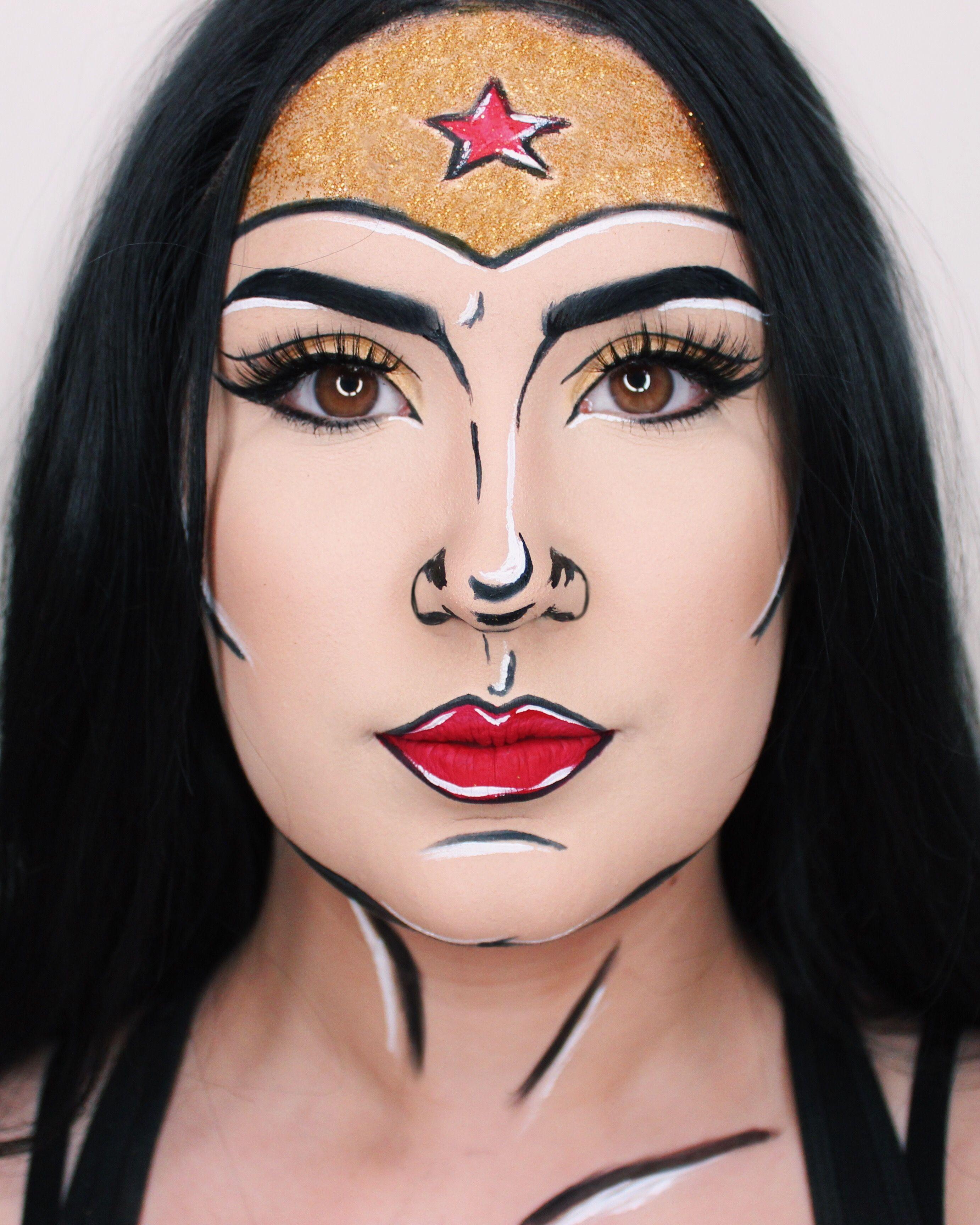 Wonder Woman Makeup Comic Makeup Makeup Wonder Woman Makeup