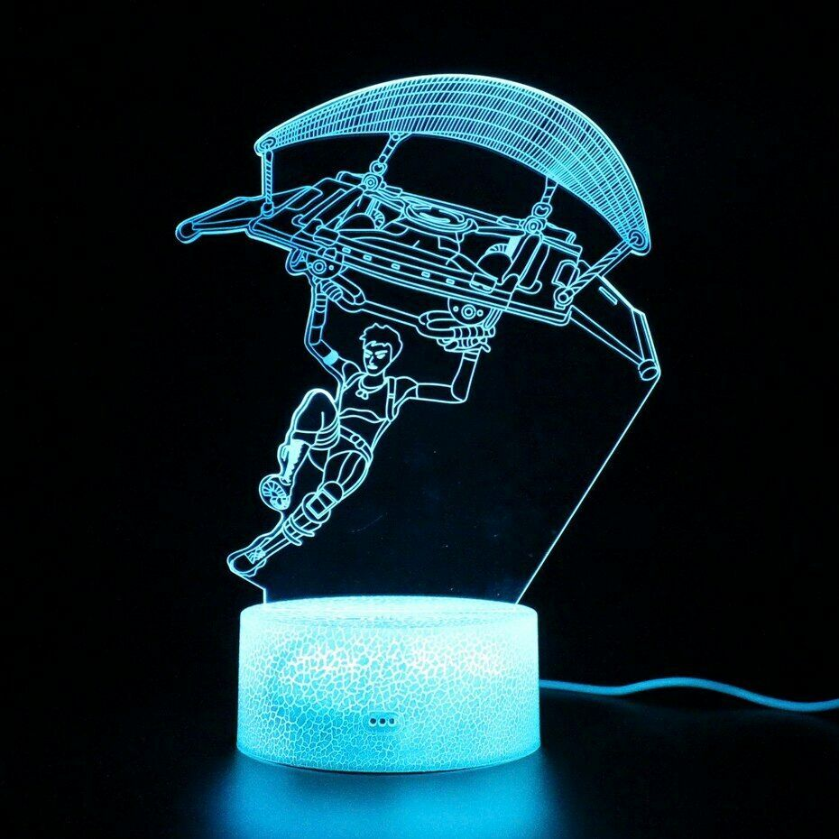 Battle Royale Gliding Lamp Base Remote Control 3d Table Lamp Touch Led Light Night Light Kids 3d Table Lamp Lamp Bases