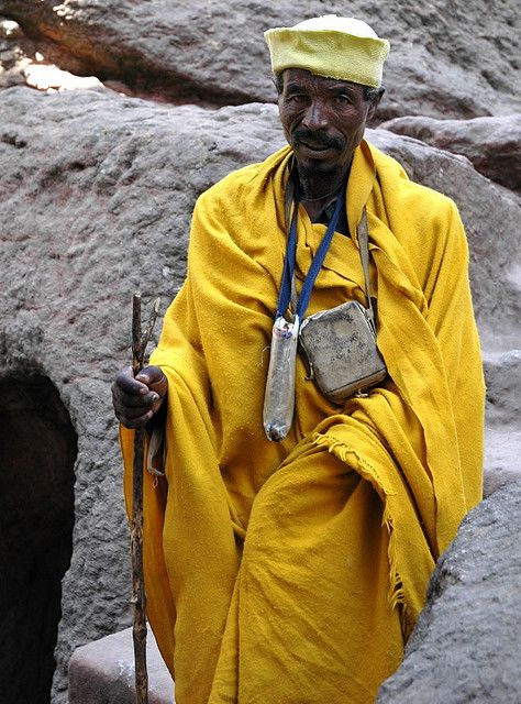 Man in Yellow - Lalibela, Ethiopia