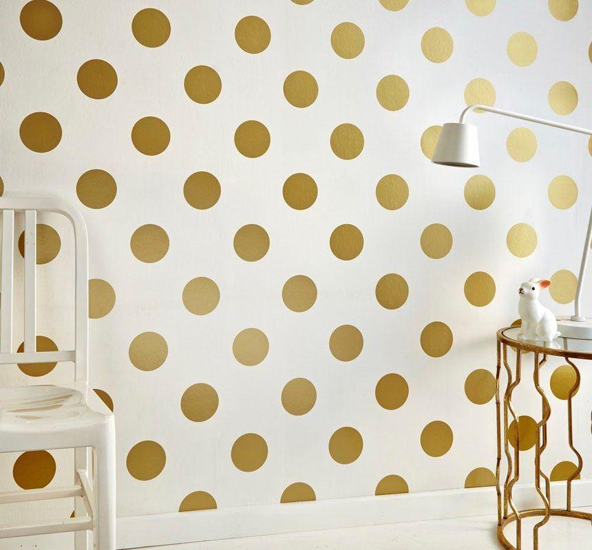 Dotty 33 X 20 5 Wallpaper Roll In 2021 Gold Wallpaper Spotted Wallpaper Gold Spot Wallpaper White and gold dotty wallpaper