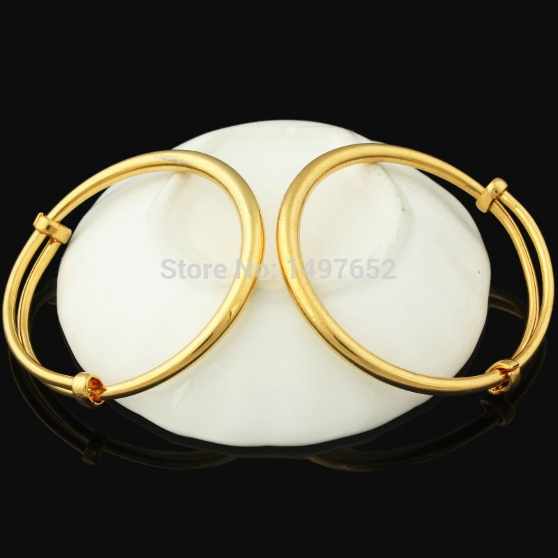 Fashion Dubai Gold Baby Bangle Jewelry For Boys Girls18k Gold Plated