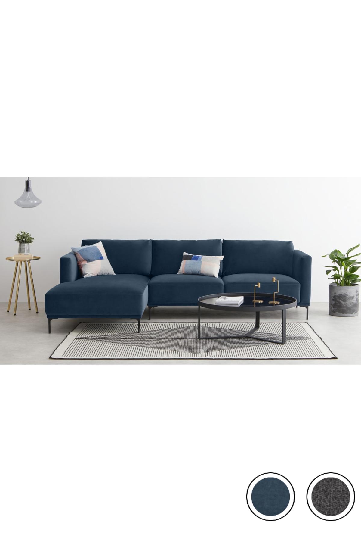 Made Sapphire Blue Sofa Sofa Corner Sofa How To Make Corner Sofa