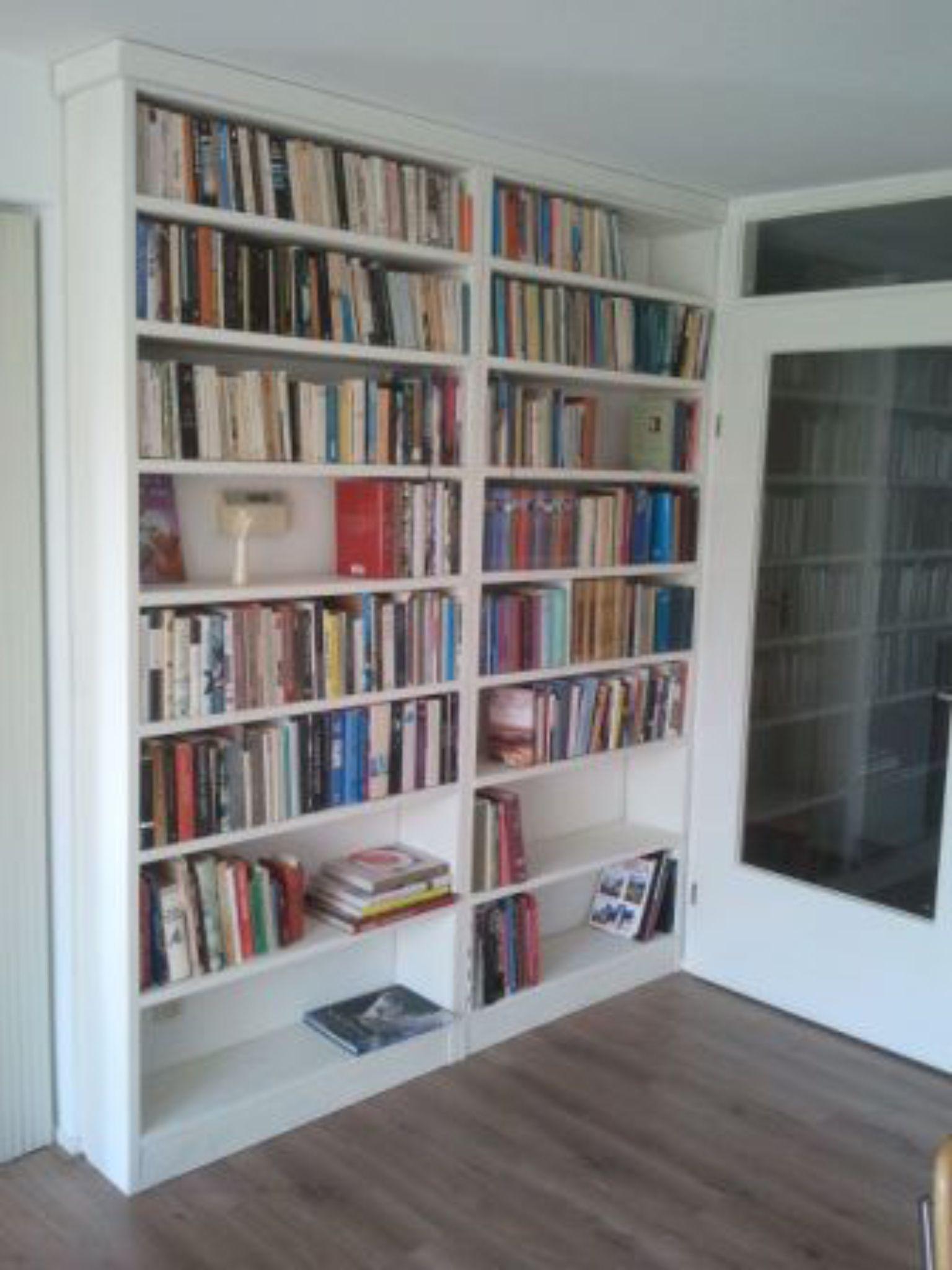 Boekenkast wand op maat gemaakt | Kasten op maat gemaakt. | Pinterest