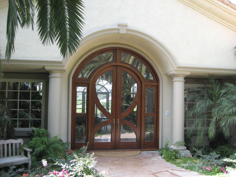 Contemporary Front Entry Door By Grand Entrances In San Diego Ca Custom Wood Doors Custom Wood Doors Front Entry Doors Grand Entrance