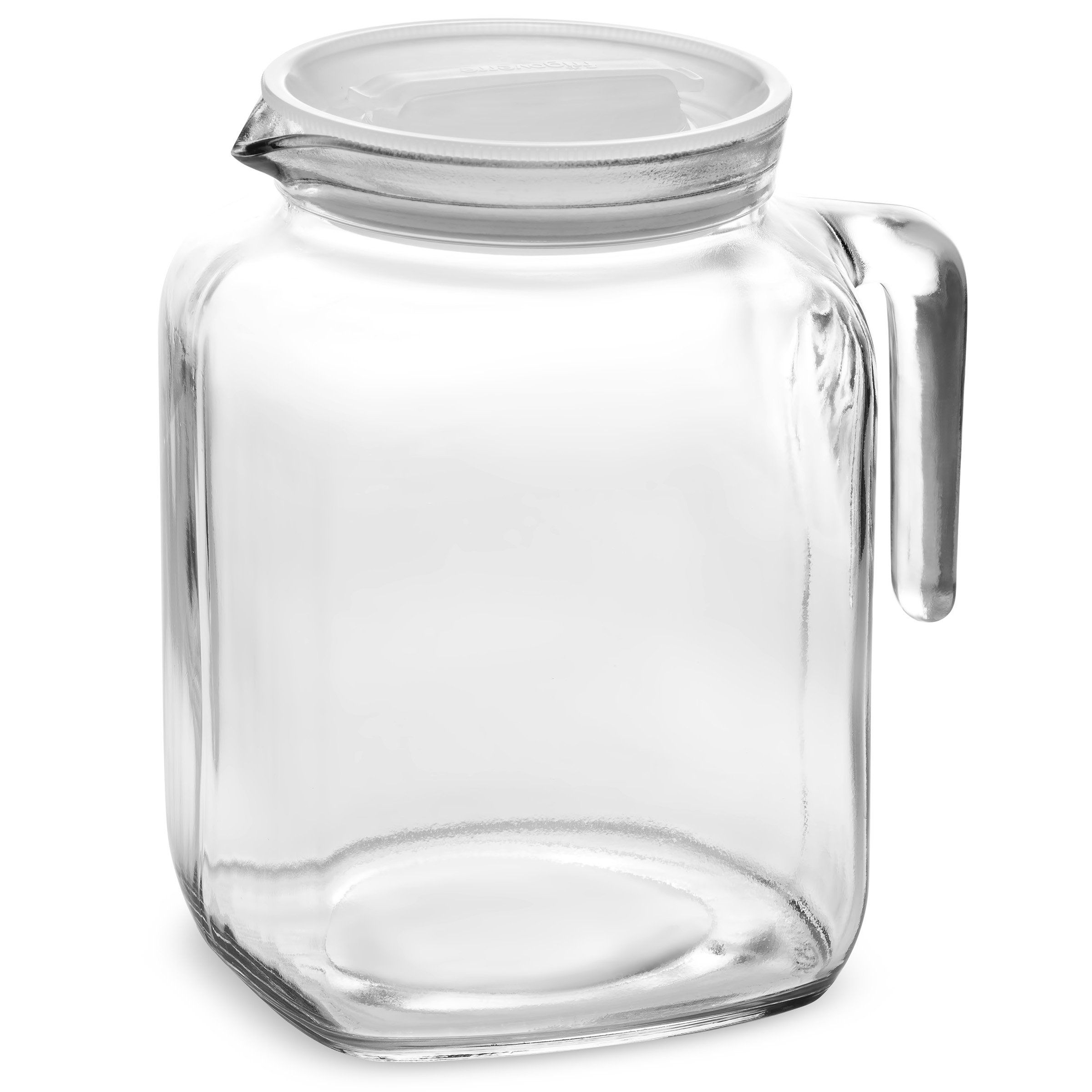 Bormioli Rocco Hermetic Seal Glass Pitcher With Lid And Spout 68 Ounce Great For Homemade Juice And Iced Tea Homemade Juice Glass Milk Bottles Bormioli Rocco