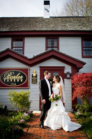 Clic Wedding Day Michelle Tom Barker Tavern Scituate Machusetts