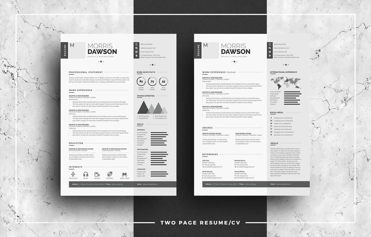 u201cinfographic resume u201d by whitegraphic is a modern cv design
