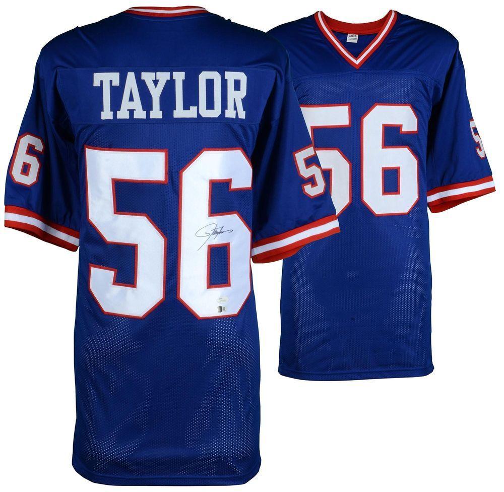 Lawrence Taylor New York Giants Autographed Blue Jersey JSA Certified   Football a934626af
