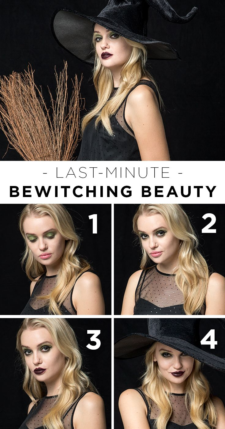 Pull together a bewitching and easy halloween costume with just a
