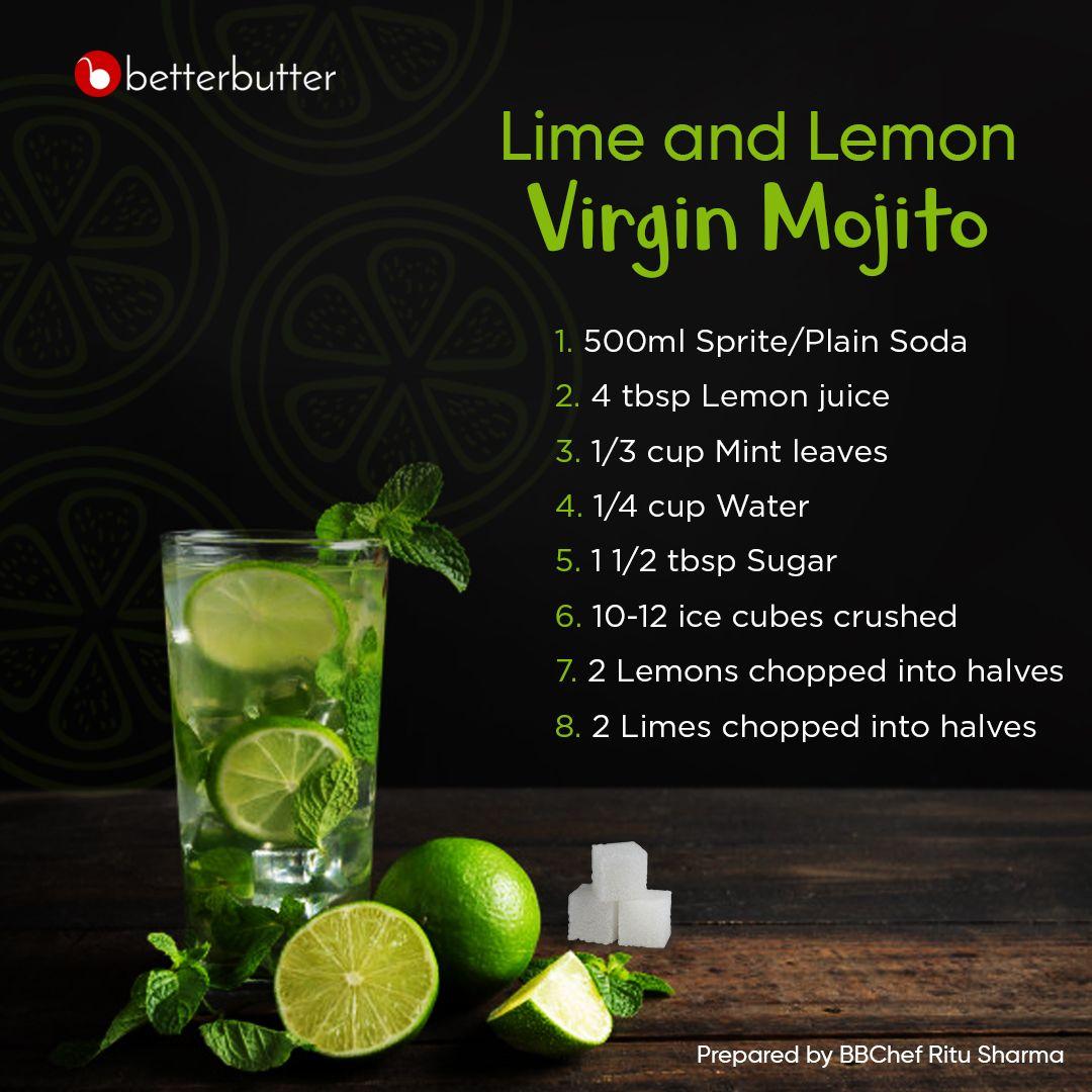Lime And Lemon Virgin Mojito Recipe By Ritu Sharma At Betterbutter Recipe Spice Mix Recipes Recipes Indian Food Recipes Vegetarian