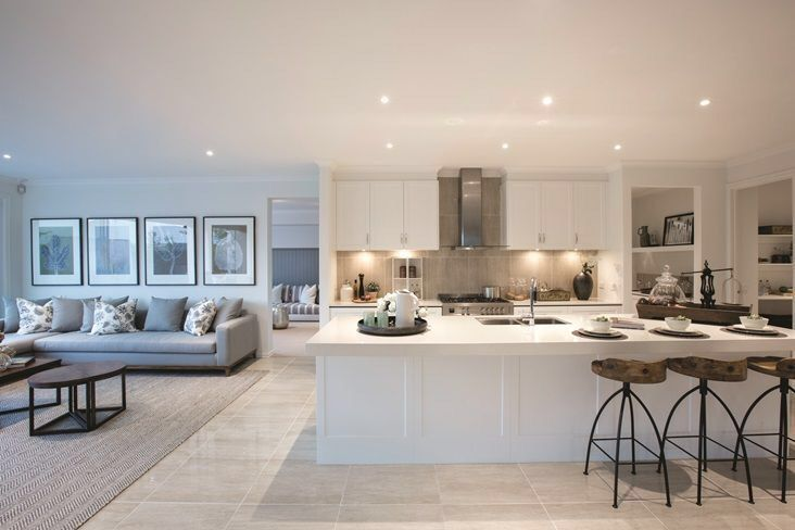 Pin By Olgal Mena On New Home Open Plan Kitchen Living Room Open Plan Kitchen Dining Living Open Plan Kitchen Dining