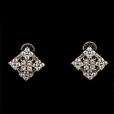 Stylish Square Diamond Studs