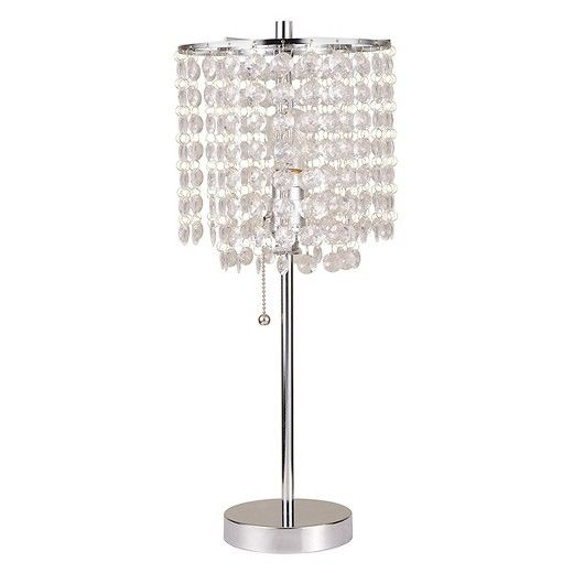 Ore International Table Lamp Silver Target Glam Table Lamps Chandelier Table Lamp Crystal Table Lamps
