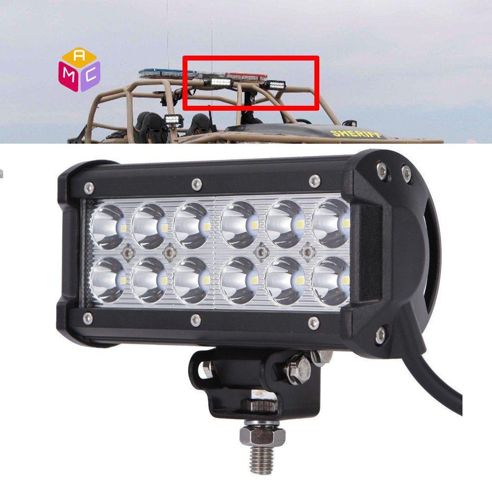 6 Bright Led Work Light Bar Spot Combo Kawasaki Atv Utv Teryx
