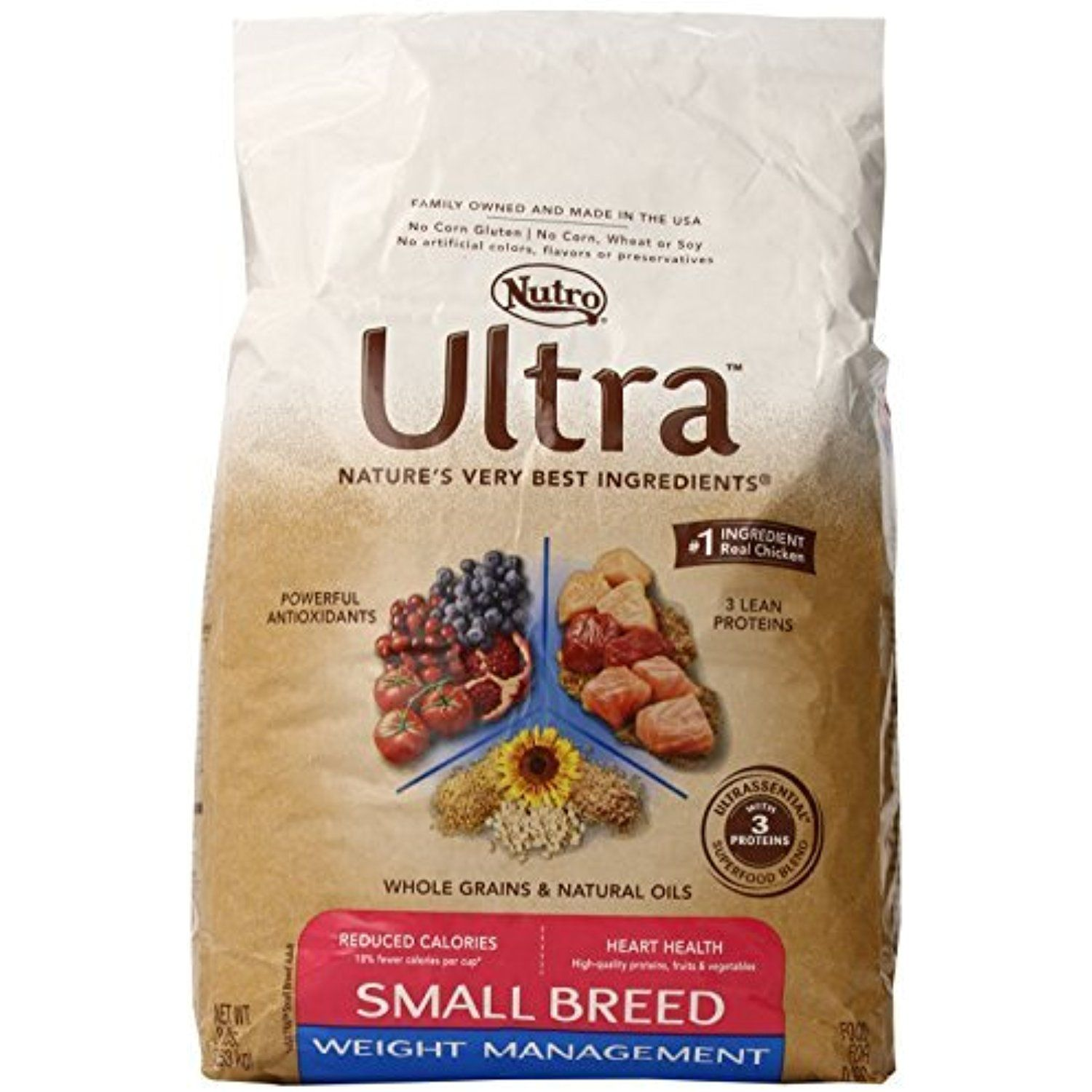 Nutro Ultra Small Breed Weight Management Dry Dog Food 8 Lbs By